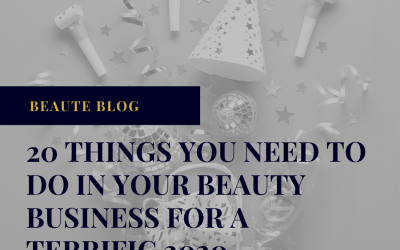 20 things you need to do in your beauty business before 2020